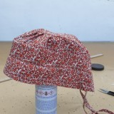 주황 꽃무늬